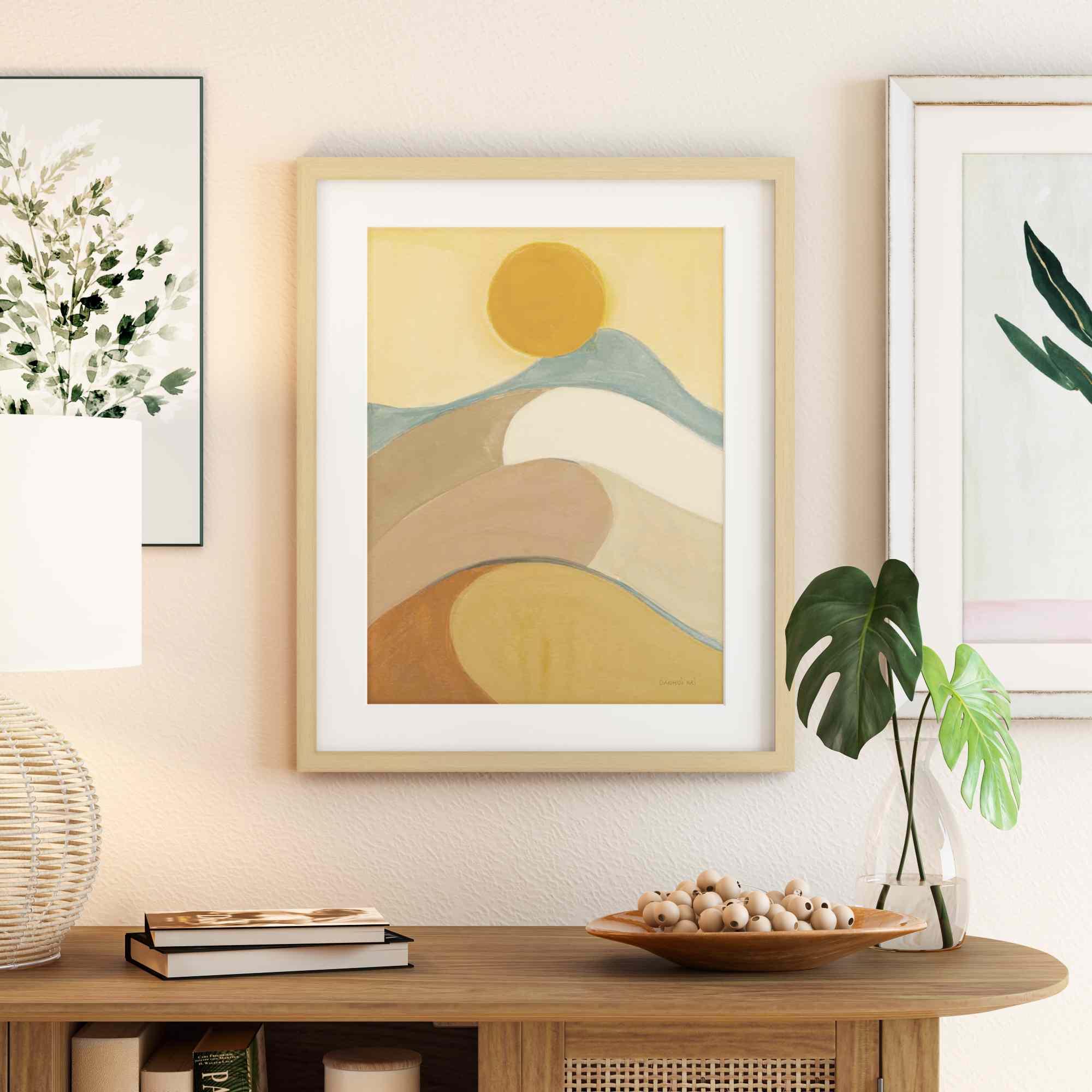 MoDRN Natural Boho Mirage Framed Art Print