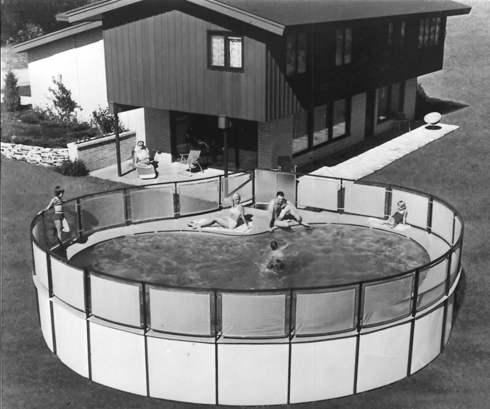 vintage Doughboy pool