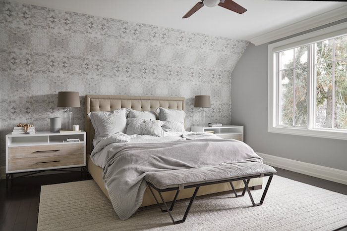 neutral color bedroom that's clean and minimalist