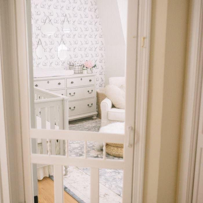 Screen door on a Shabby Chic nursery