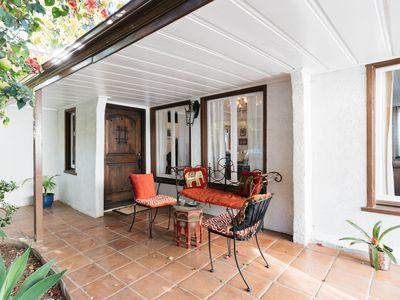 stylish covered patio
