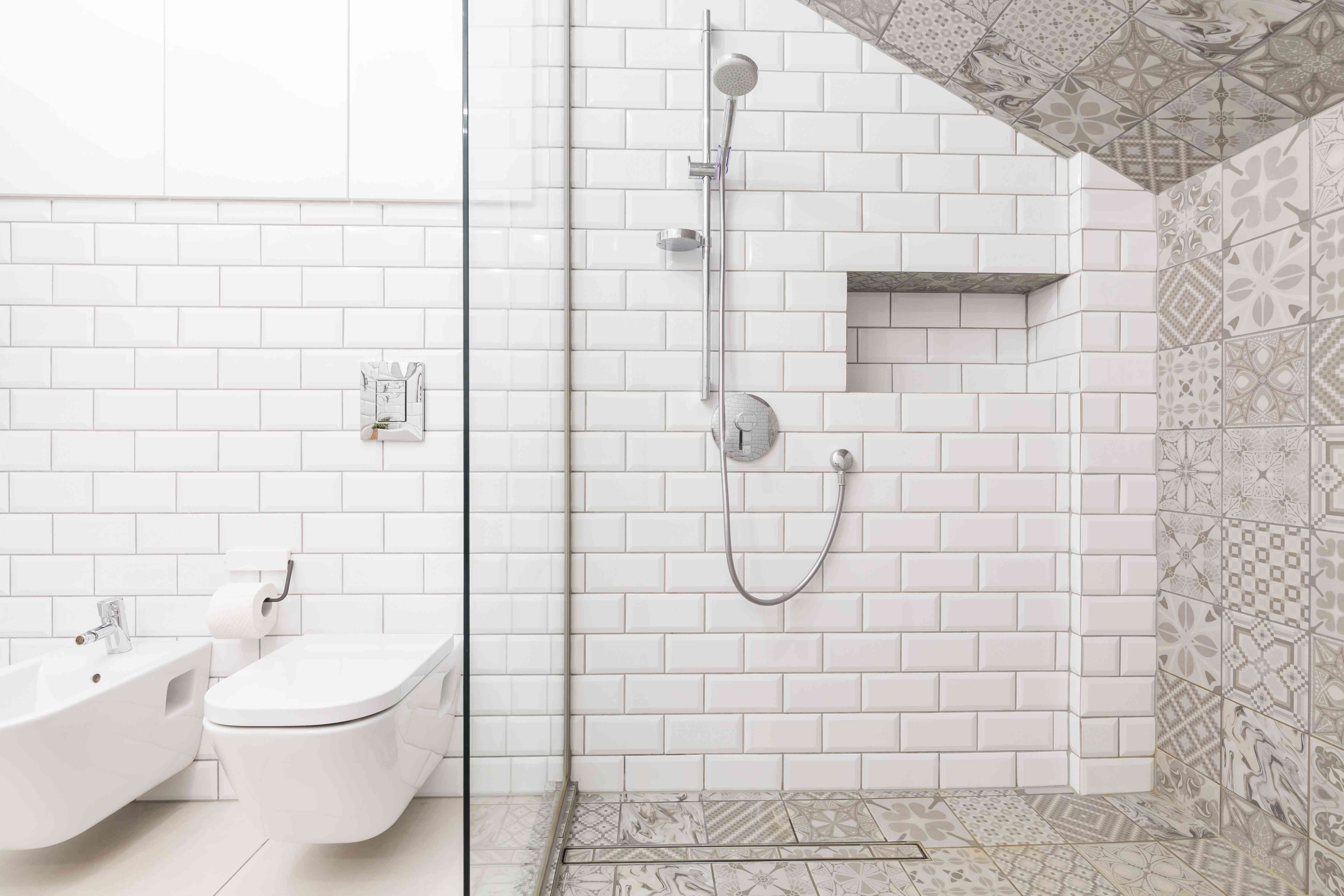 Luxury beige bathroom