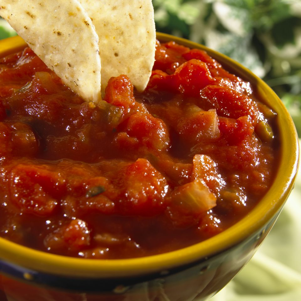 Tomato salsa, close-up