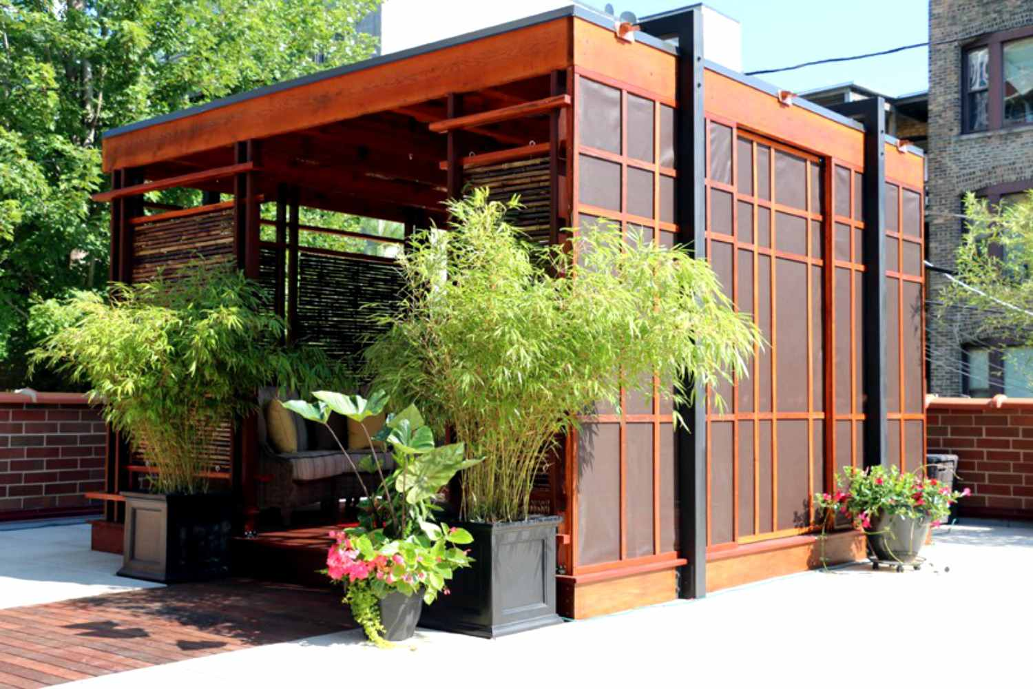 rooftop shade structure