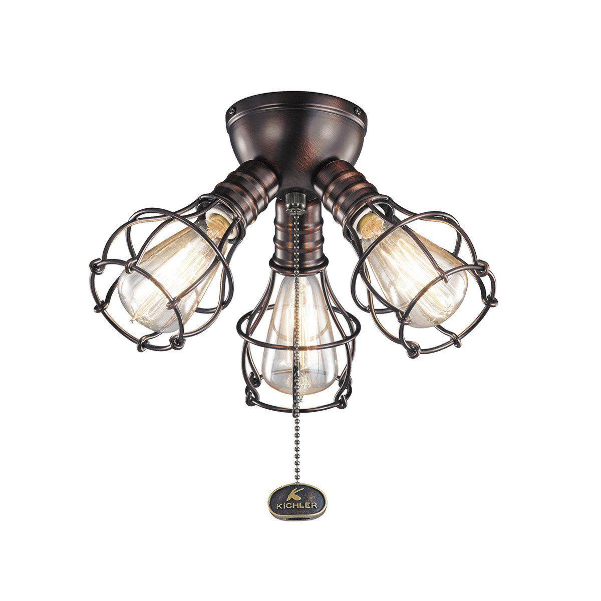 Kichler 370041OBB, Industrial 3 Light Fixture
