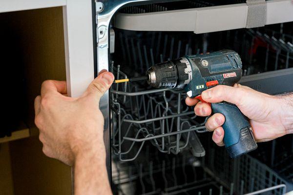 installing a dishwasher