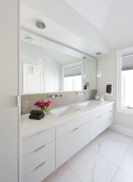 modern bathroom design. Clean White Bathroom Design Modern 1
