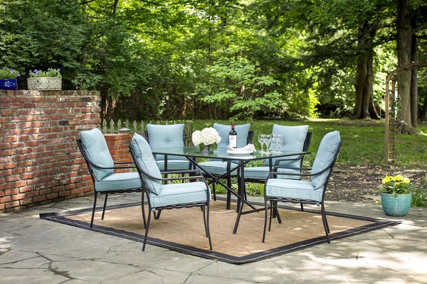 A outdoor dining room set
