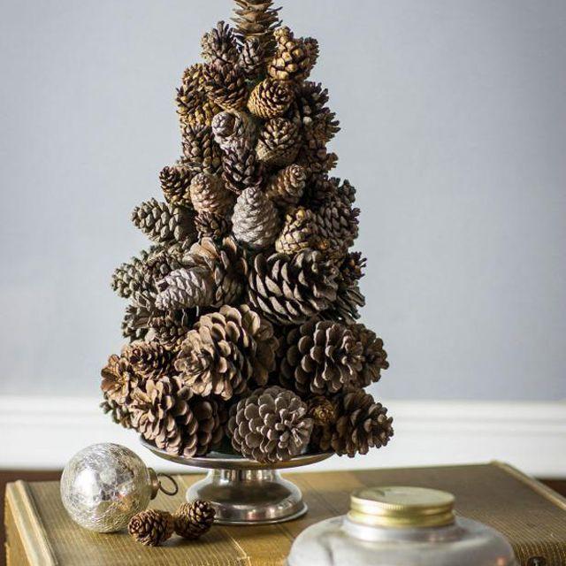 DIY Pine Cone Tree Pyramid from HGTV