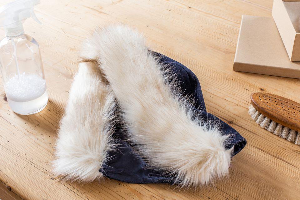hood with natural fur trim