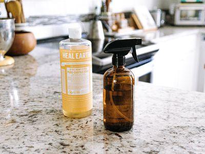 castile soap and spray bottle