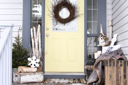 Decorating A Small Porch Front Door Winter