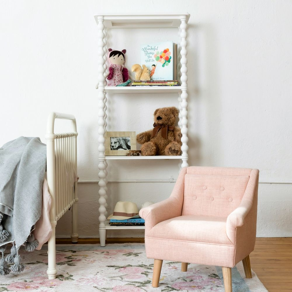 Lulu and Georgia kid's chair and bookshelf
