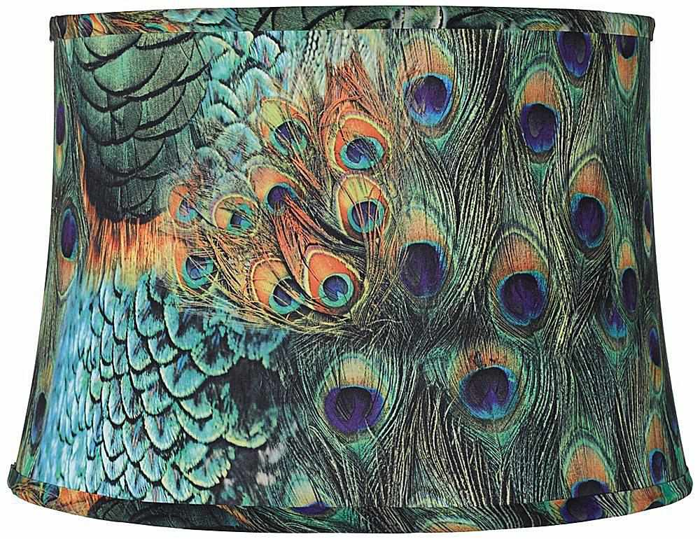 Gorgeous peacock feather lampshade.
