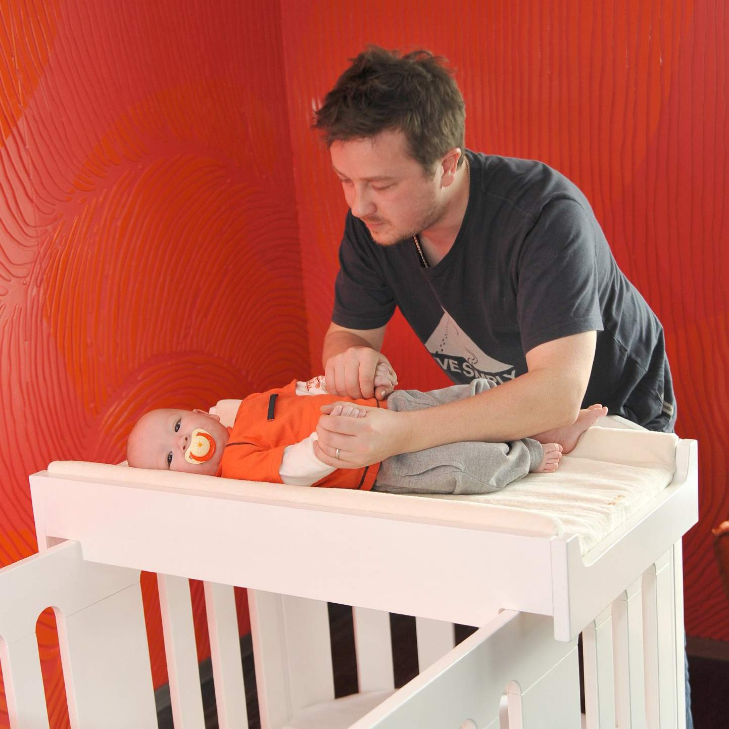 Changing Table Alternative Crib Top Tray