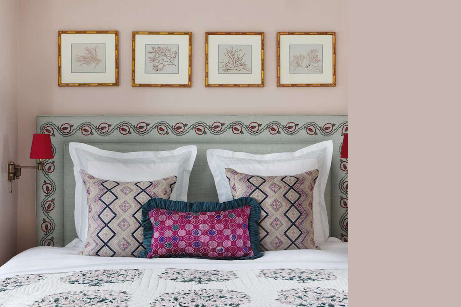 Interior painted a similar color to Farrow & Ball's Pink Drab