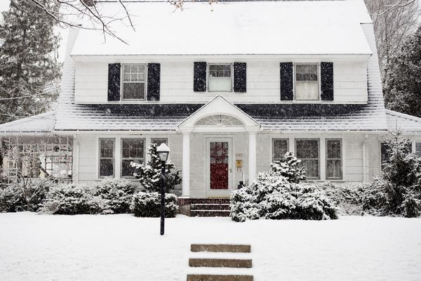 Exterior of home in the winter