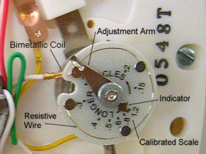 Thermostat heat anticipator detail diagram