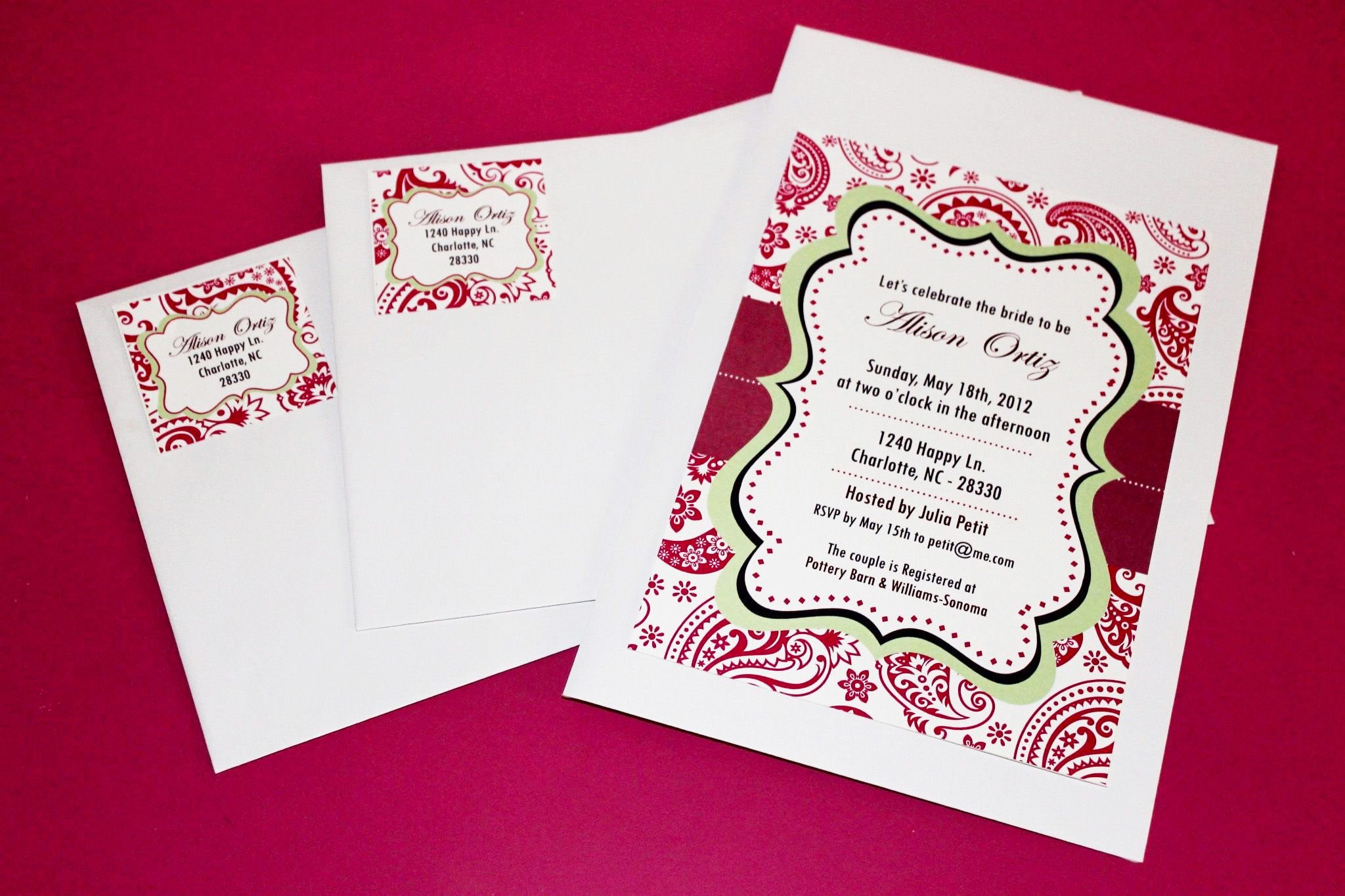 Free, Printable Bridal Shower Invitations