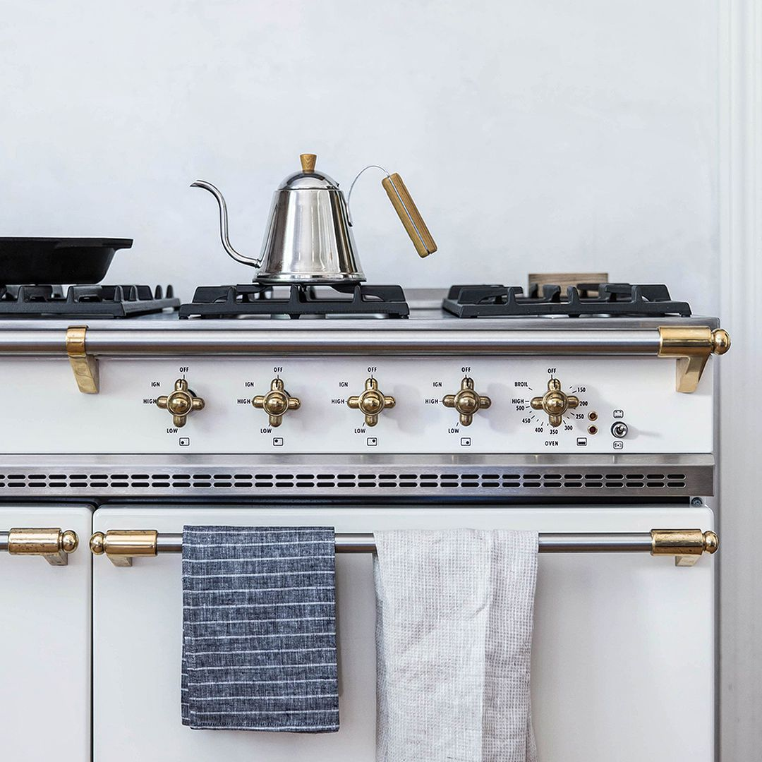 Appliance with Brass Accents