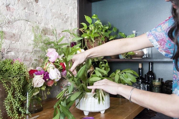 Flower Arranging in a vase
