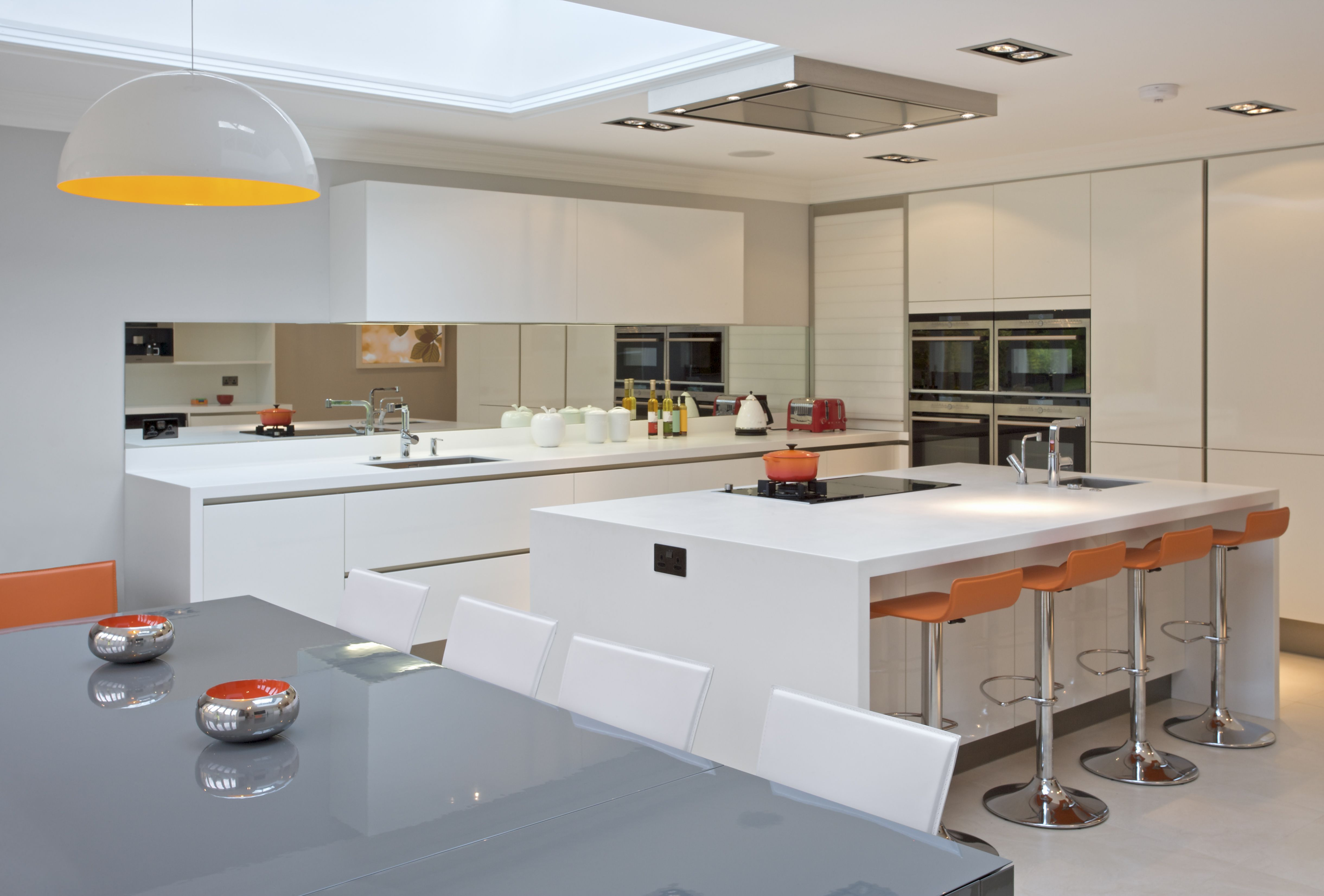 Bright modern white kitchen