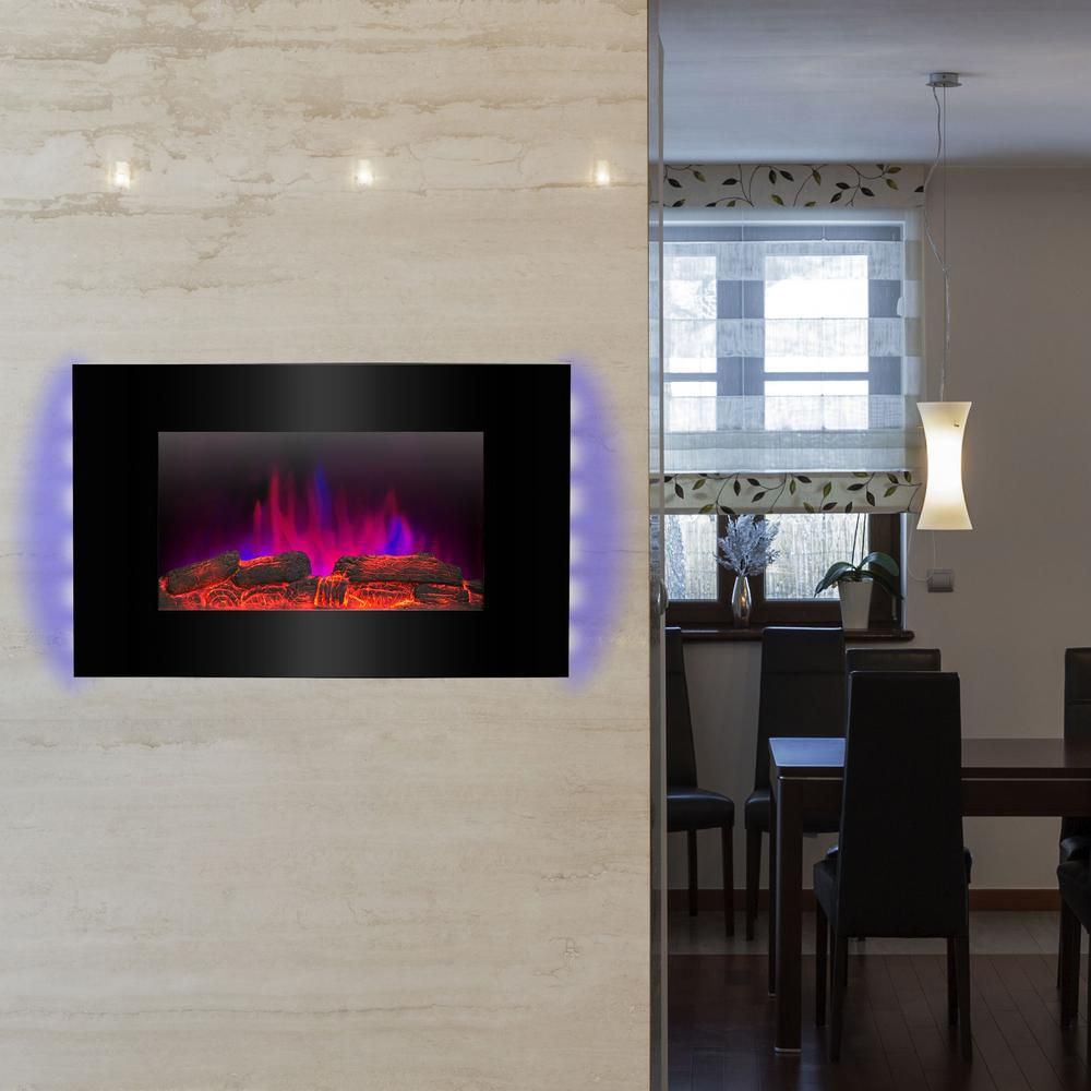 Best Wall Mounted Akdy 36 In Mount Electric Fireplace Heater