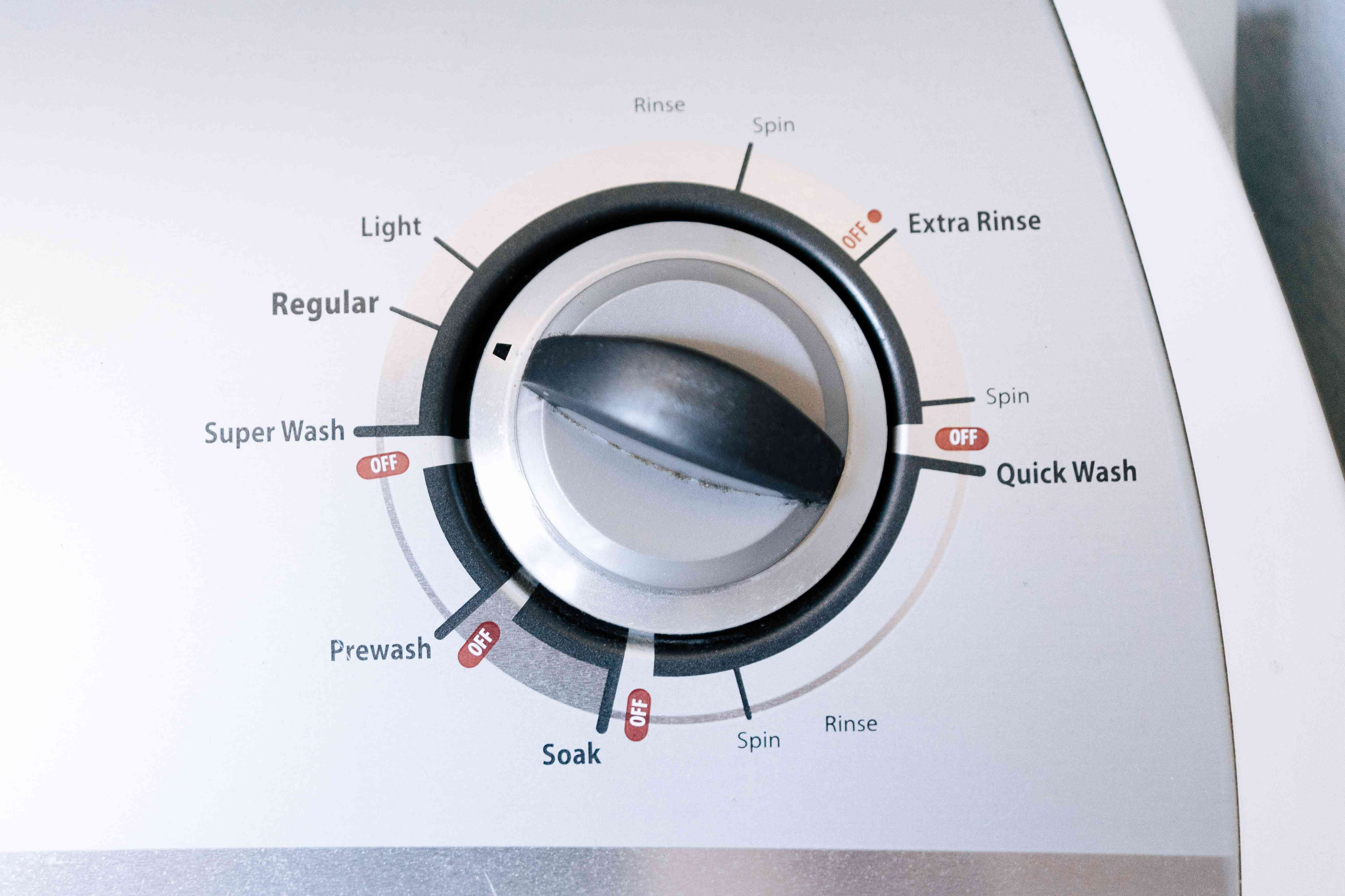 setting the wash cycle