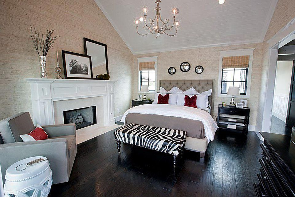 Mix Patterns In A Black Bedroom