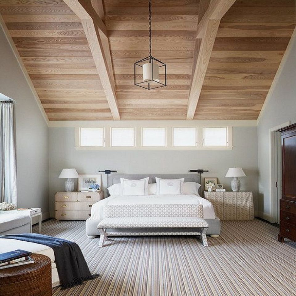 Bedroom Wood Ceiling Ideas Upholstered Bed Bedroom Bedroom With Bench Ideas Bedroom Ceiling Lighting Fixtures: Gray And Neutral Bedroom Ideas, Photos And Tips