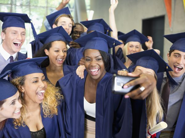 Group of graduates taking a selfie