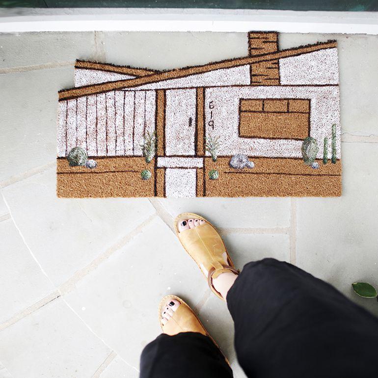 A custom doormat