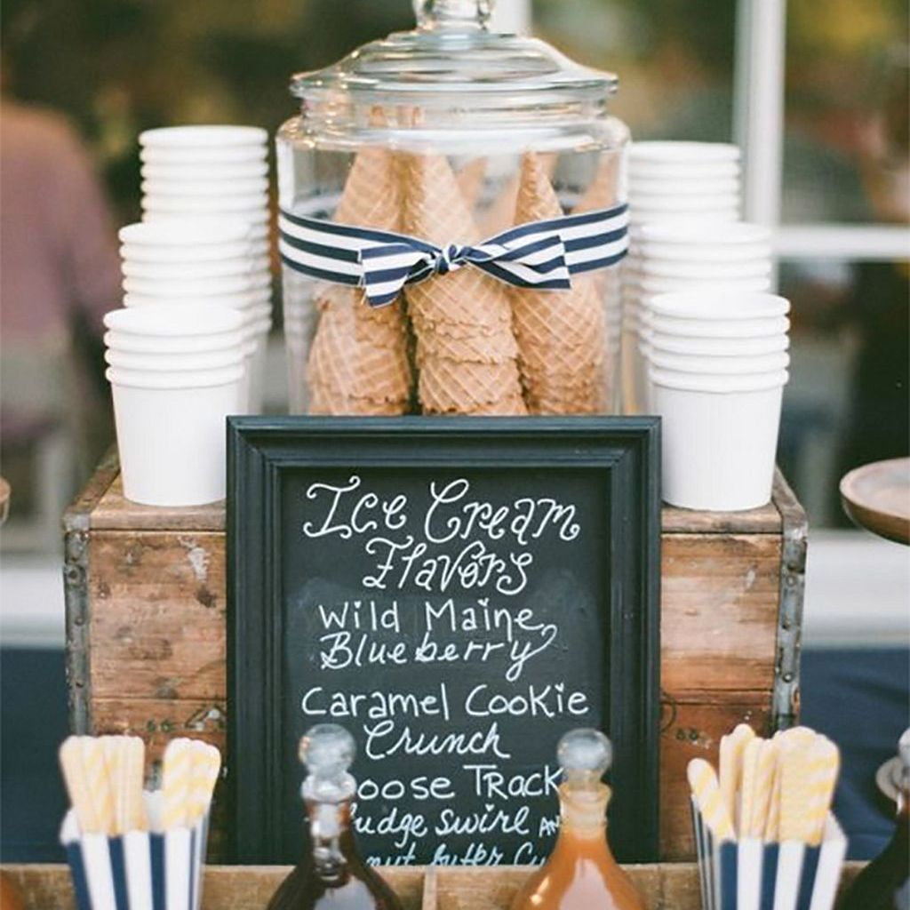 Wedding Reception Ice Cream Bar