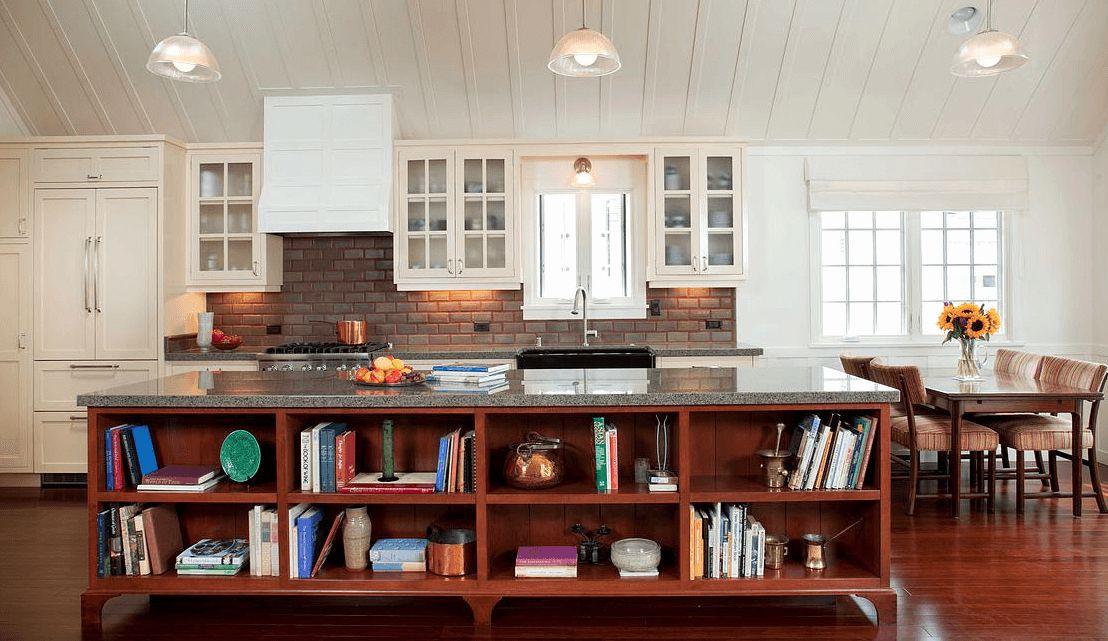 Granite countertop in cottage kitchen