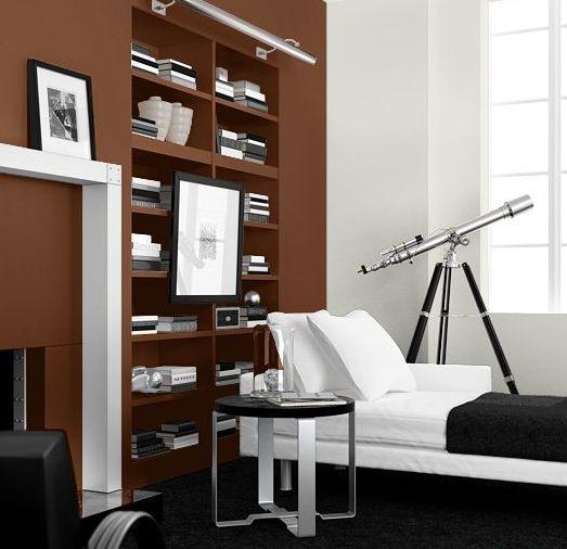 Sala de estar marrón