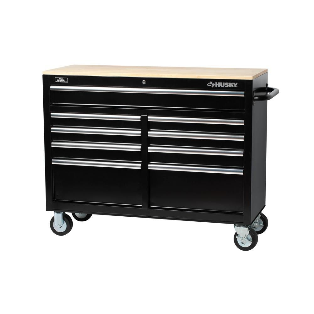 Rolling TOOL Chest Seat Portable Toolbox Cabinet Mechanic Stool Storage Trays