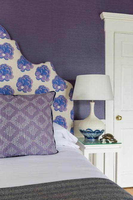 Dark purple bedroom walls