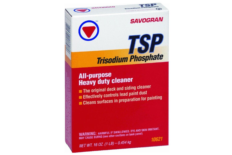 TSP cleaner -- trisodium phosphate -- has many uses.