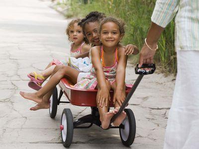 Children in wagon