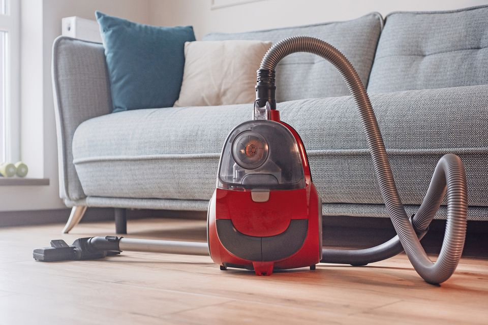 vacuum cleaner in a living room