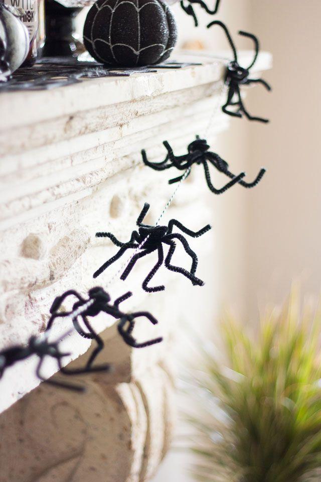 A spider web garland