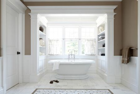 Victorian-Style White Marble Bathroom