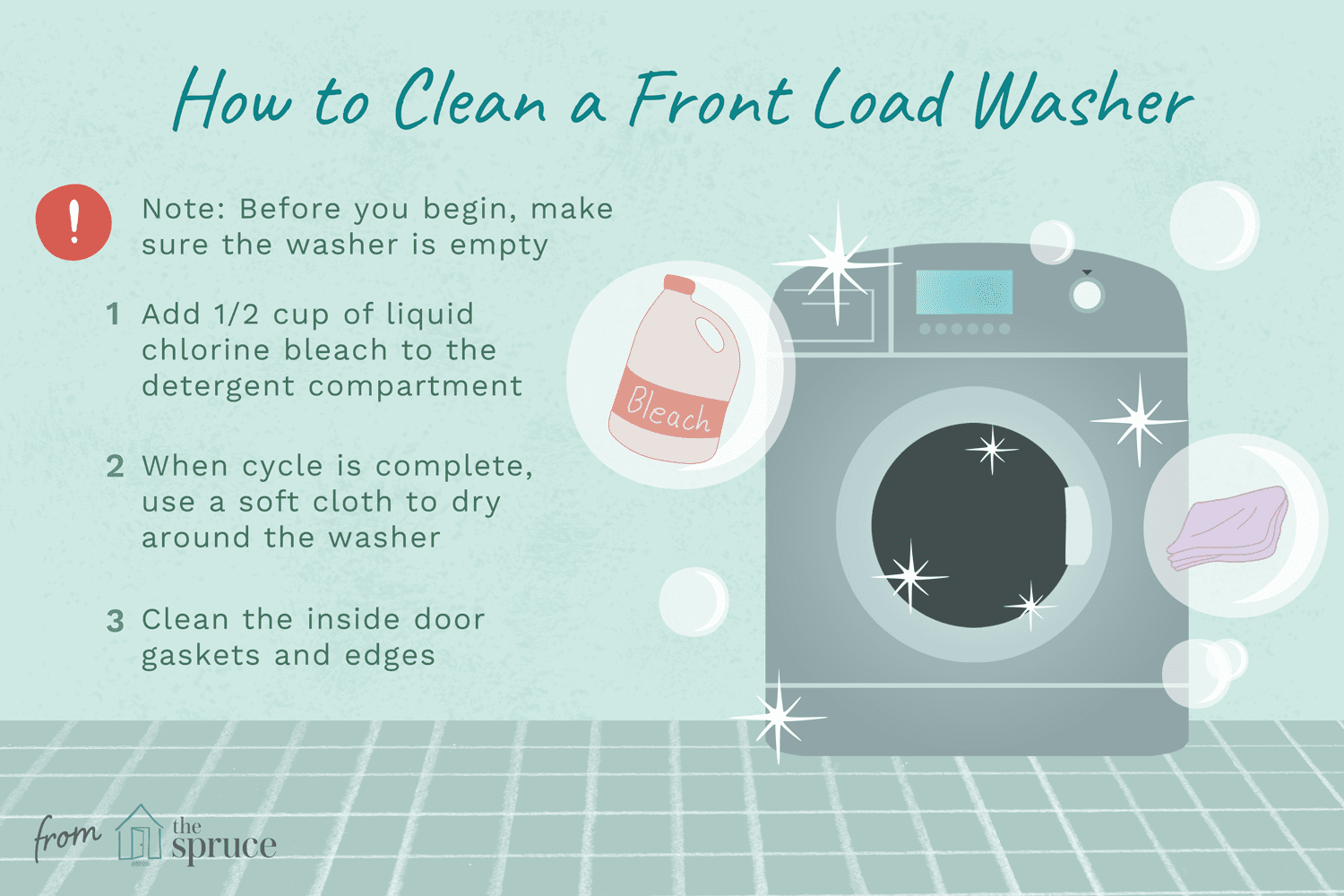 How To Clean A Front Load Washer Prevent Odors