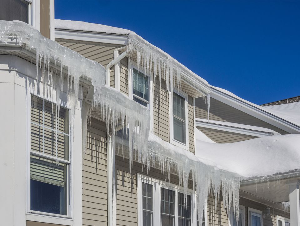 Ice Dams on a Roof