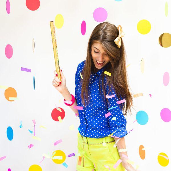 DIY Floating Confetti Backdrop