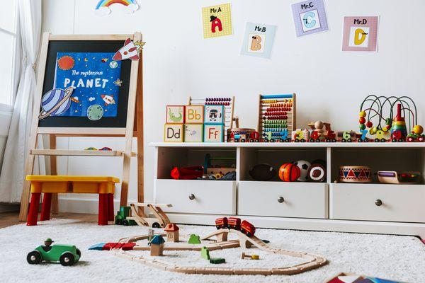 Interior design of a kindergarten classroom