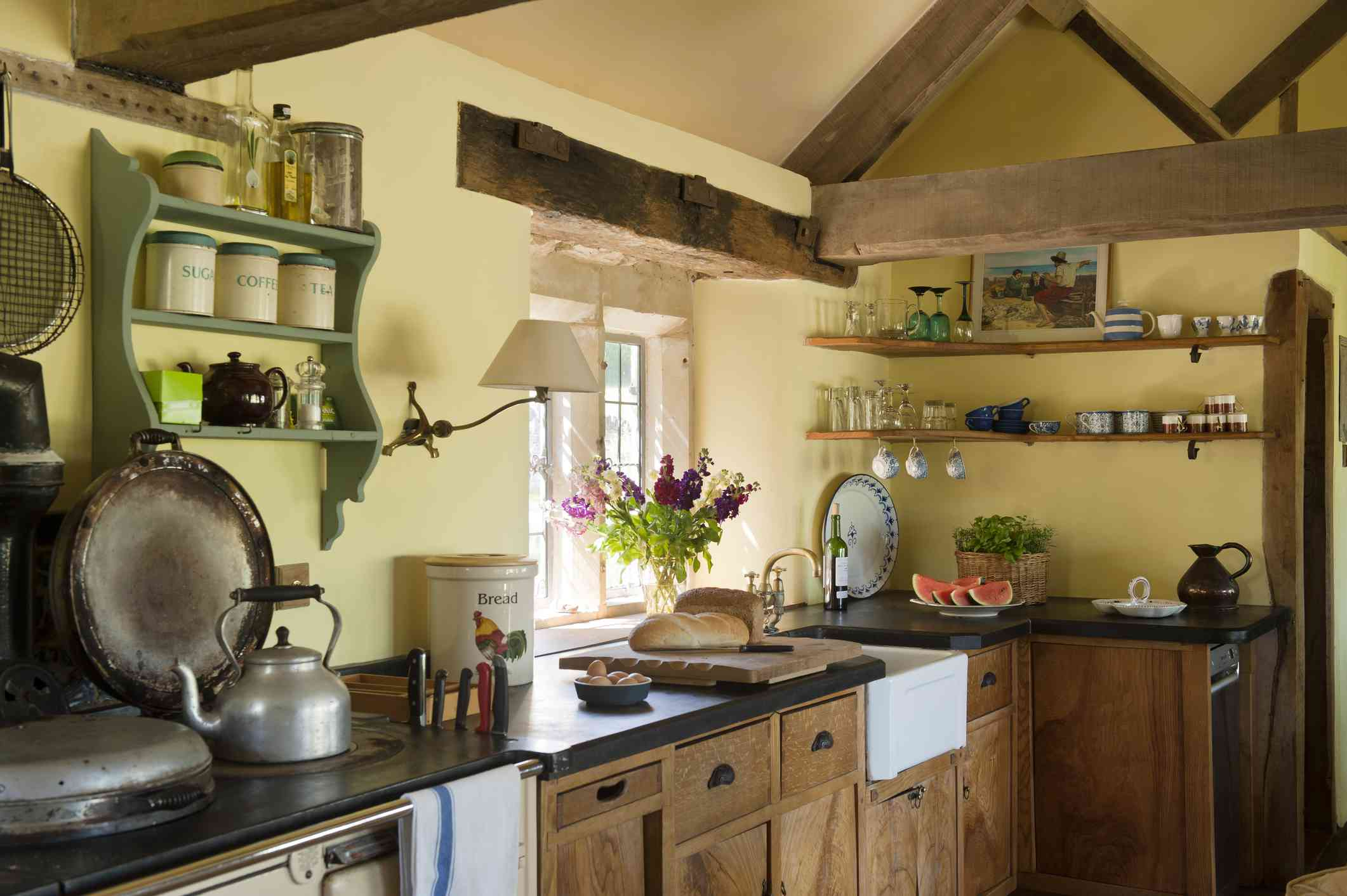 A rustic country kitchen