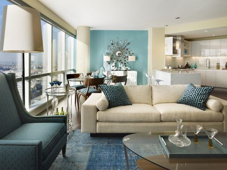 Blue And White Condo