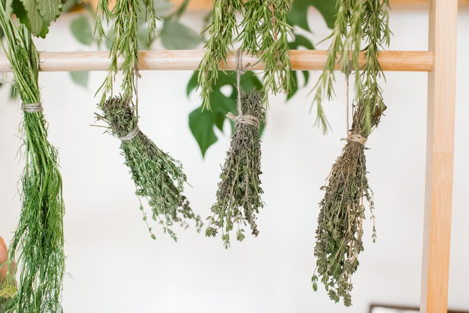 drying herbs upside down