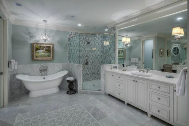 Marble Bathroom Tile Kemistorbitalshowco - Large marble bathroom tiles